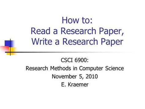 How to create research paper